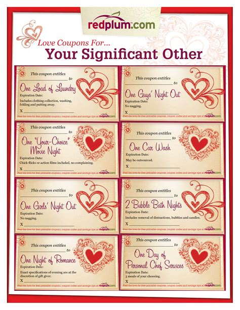 blank printable love coupons for him journalingsage with regard to