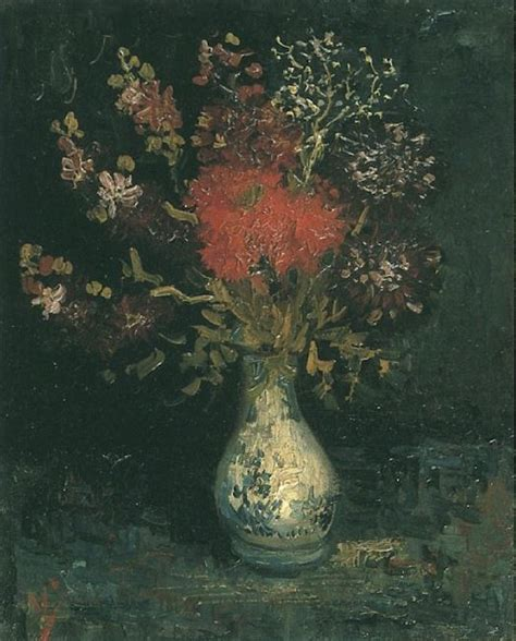 Vase With Flowers Gogh by Vase With Flowers C 1886 Vincent Gogh Wikiart Org