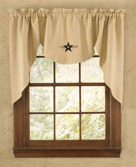 vine lined window curtain swag - Swag Window Curtains