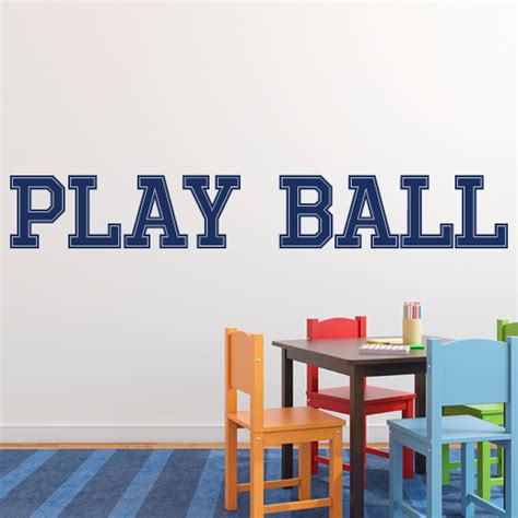 Sports Wall Decals For Nursery Play Vinyl Wall Decal Sports Room Nursery Decal Sports Decal