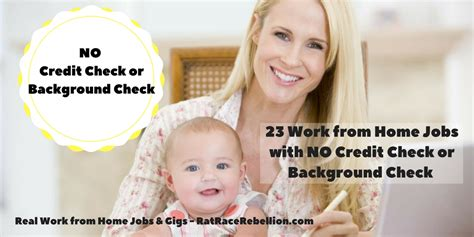 Credit Check Background 23 Work From Home With No Credit Check Or Background Check Real Work From Home
