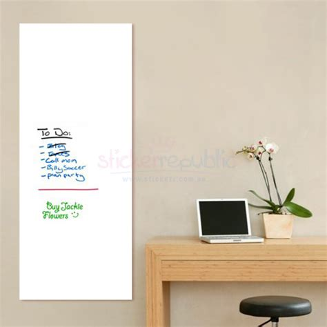 whiteboard wall stickers large whiteboard wall sticker 45cm x 200cm