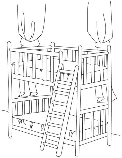 bunk bed template bunk beds coloring pages