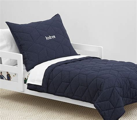 Quilted Toddler Bedding by Jersey Quilted Toddler Bedding Pottery Barn