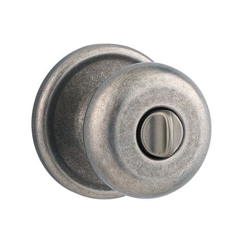 Locks And Knobs by Shop Kwikset Signature Hancock Rustic Pewter Turn