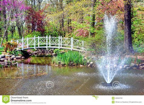 Sayen Park Botanical Garden Sayen Park Botanical Garden And Bridge Stock Photo Image 40550703