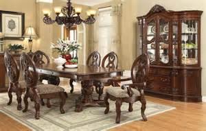 pedestal dining room table sets furniture rovledo formal dining room set with