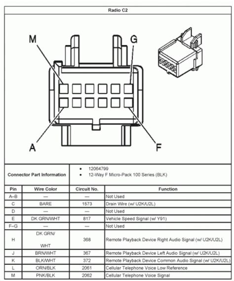 silverado radio wiring diagram 2005 efcaviation