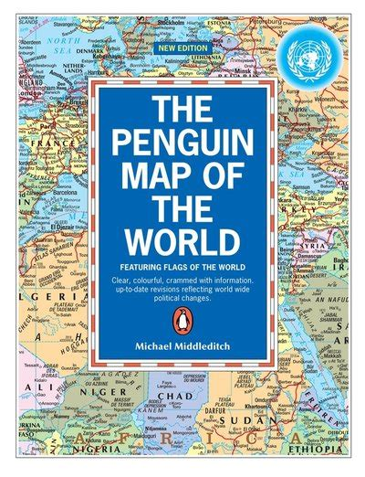 a map of the the searchers books the penguin map of the world by michael middleditch