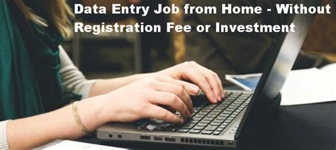 Online Work From Home Without Registration Fee - data entry jobs from home without registration fee or investment