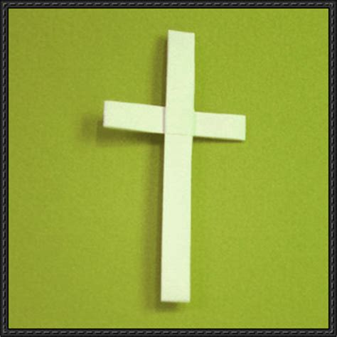 How To Make A Paper Cross - new paper craft how to make a cross origami on