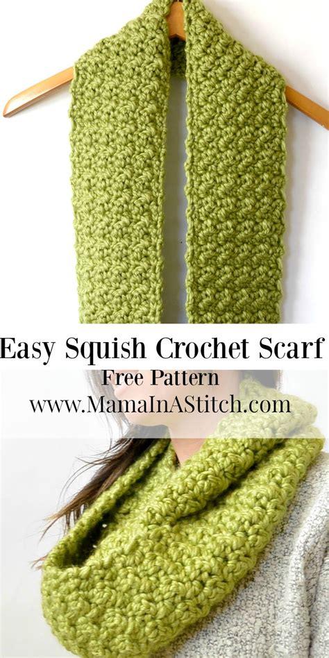 infinity scarf crochet pattern easy chunky squishy crochet infinity scarf pattern in a