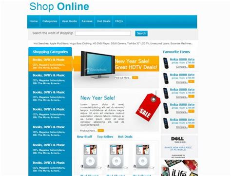 templates for shopping website 33 free and premium html css ecommerce website templates