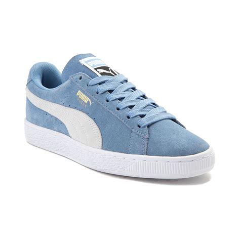 light blue shoes womens womens suede athletic shoe blue 361770