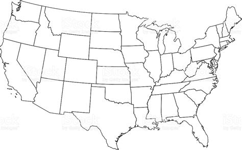 usa map black and white outline usa map outline my