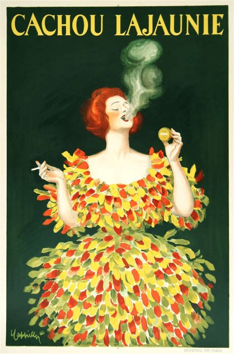 Plakat Candy by Cachou Lajaunie Cappiello Vintage French Candy Poster