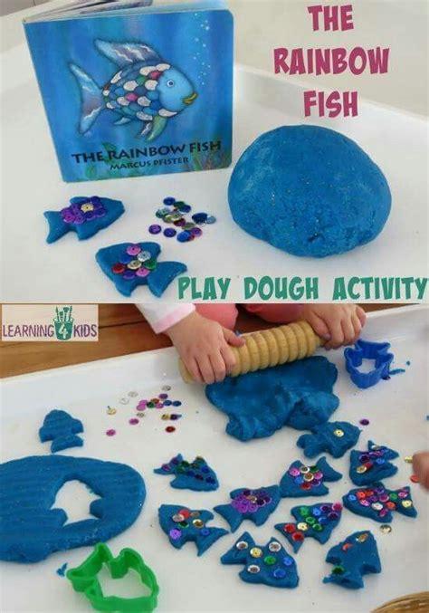 rainbow fish pattern for kindergarten rainbow fish playdoh activity kids crafts pinterest