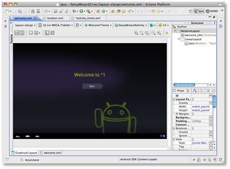layout editor android eclipse improved layout editor windowing android tools project site