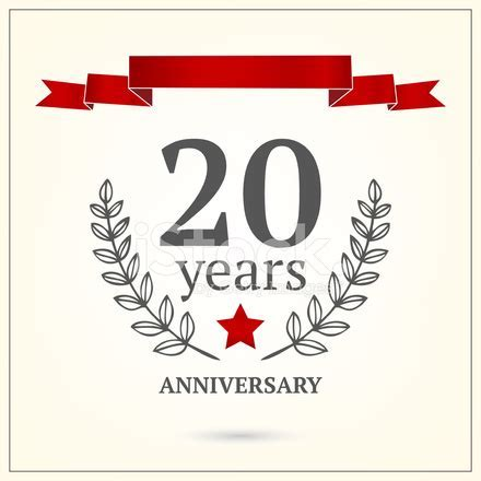 Twenty Years Anniversary Sign Stock Vector   FreeImages.com