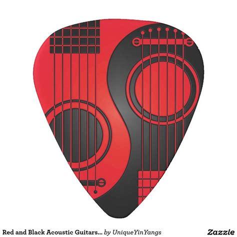 imagenes de guitarras rojas guitarras ac 250 sticas rojas y negras yin yang plectro