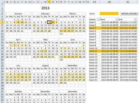 heat map calendar