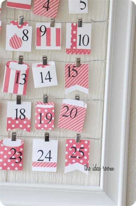 holiday advent calendar activities the idea room