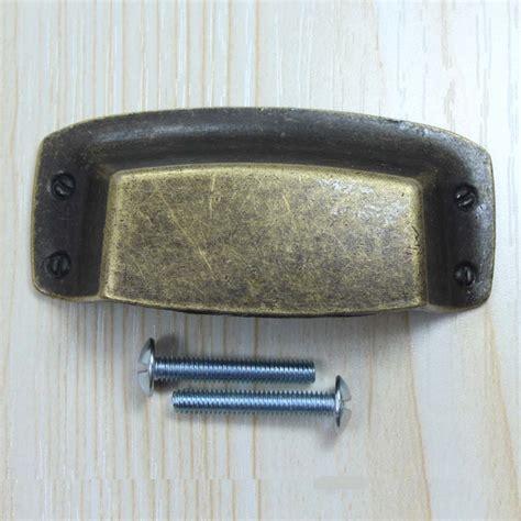 32mm Antique brass Pulls Cap cover Drawer Handles Bronze Cabinet Pull rural Vintage Furniture