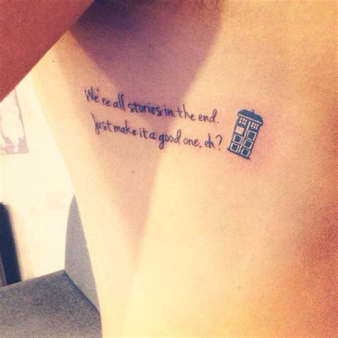 small tardis tattoo doctor who by atacoast deviantart on