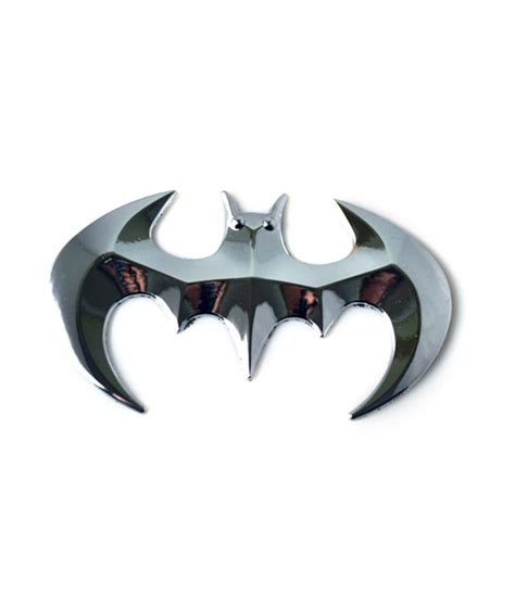 Emblem City By Kur Accesories pbx batman car 3d metal chrome badge car emblem decal