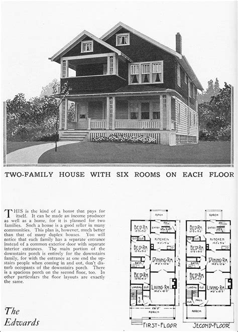 Two Story Duplex House Plans by 1925 Vintage Duplex House Plan For Two Families Radford