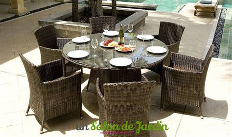 table patio ronde table de jardin ronde