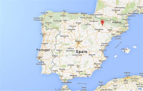 on map where is huesca on map of spain world easy guides