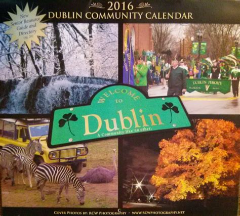 Will Calendars Dublin Dublin 2016 Calendar My Town Community Calendars