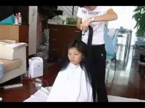 long toshort haircutting dailymotion very long hair cut off short youtube