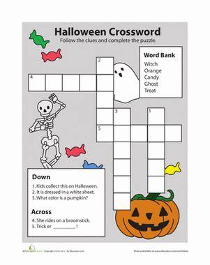 4 best images of halloween easy printable crossword halloween vocabulary worksheet education com