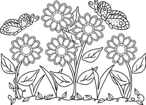 fiori e farfalle da colorare fiori e farfalle da colorare idee green