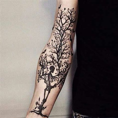 skull tree tattoo skeleton tree inspirations