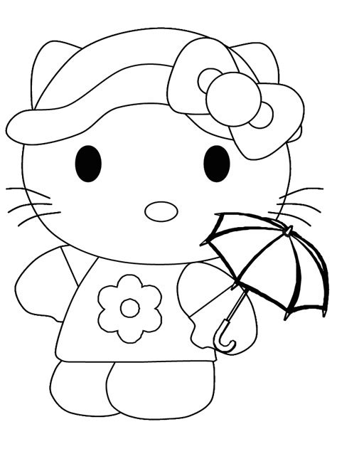 coloring pages hello kitty summerfree coloring pages for