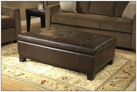 super jumbo leather ottoman belham living corbett leather