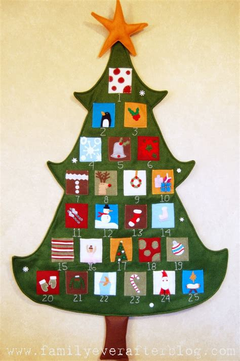 pottery barn inspired christmas tree advent calendar