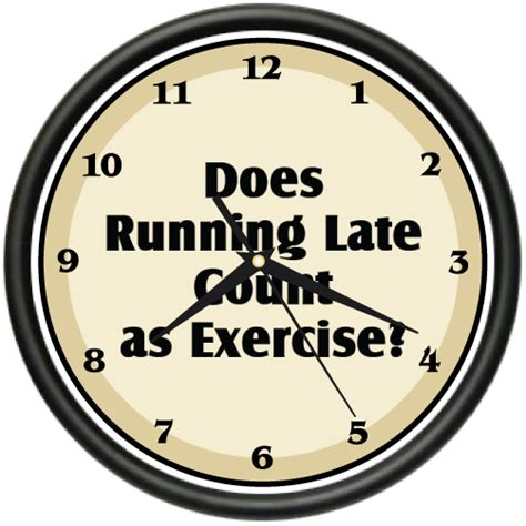clock runing themes running late wall clock exercise funny office home decor