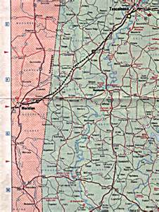 two highway thru the alabama countryside