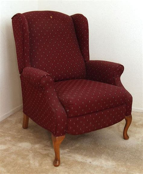 Slipcover recliner diy amp 30 reclining wingback reupholstery project