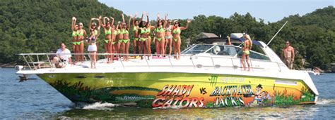 lake of ozarks boat rental close to party cove shootout 2011 photos from captain ron s the lake