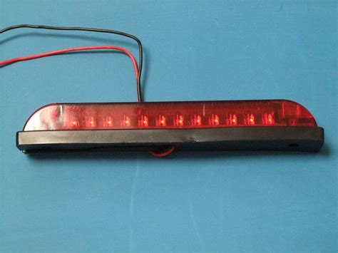 Led 6 Quot Strip Light Waterproof Red Lens Red Leds 12v Waterproof Led Light Strips 12v