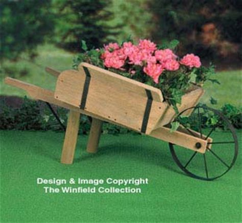 Rustic Wheelbarrow Planter by The Winfield Collection Rustic Wheelbarrow Planter Plan