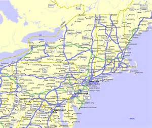 road map eastern united states maps northeastern united states map