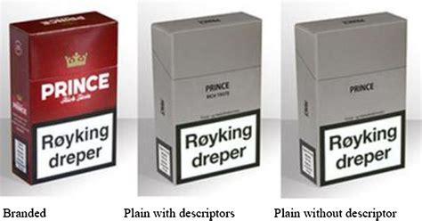 impact  cigarette branding  plain packaging