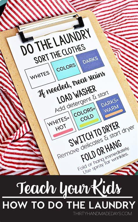 30 Handmade Days - teach your how to do the laundry thirty handmade days