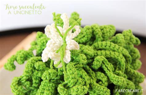 fiore uncinetto facile fiore pianta grassa uncinetto come fare schema farecreare